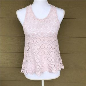 Pins and Needles (UO) Daisy Lace Swing Top Size S
